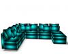 Beautiful Teal Sofa