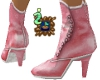 Pink Kid Leather Boots