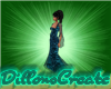 CD Blue glam gown
