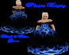 black & blue Gown