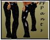 PF Black Flowerettes