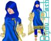Hijab in Royal & Gold