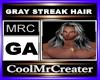 GRAY STREAK HAIR