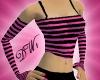 Pink/Black Fingerless Gl