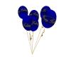 Blue and gold bday ballo