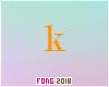 Fo. K Letter Orange