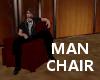 KP dk red man chair