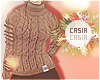 T-Neck Sweater Brown