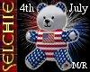 !!S 4th July Bear M