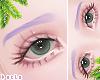 d. eyebrows purple