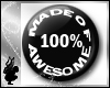 Button - 100% Awesome