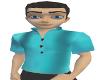 Teal Mens Pullover Shirt