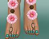Flowers foot wear