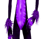 purple skunk wrist fur