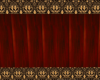 redwood wall with gold