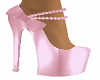 Pink Pearls Bow Shoes