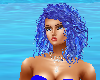 Blue wavy hair