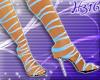 Aqua lace-up shoes
