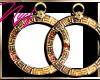 NYCF| Versace Gold Hoops