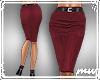 !Pencil Skirt Deep Red