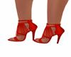 Sandalia flecos roja
