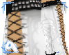 White Tribal Laced Pants
