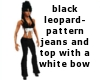 black leo jeans and top