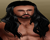 Long Black Mens hair