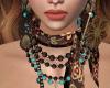 mahogany beads necklace