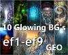 10 Glowing BG's