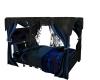 |CR|Dark Blue Canopy Bed