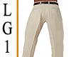 LG1 Tan  Suit  Pants