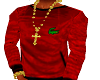 Red LACOSTE Long Shirt