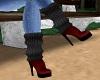 Spike-Heeled Boots -F-