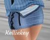 Rl mini blue skirt