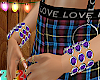 Bracelets Purple