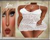 J*CROCHETTED DRESS WHITE