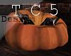 Pumpkin pouf