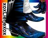 [L] Flame boots Blue