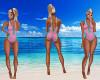 Pink & Aqua Swimsuit