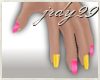 <J> Pink/Yellow Nails <>