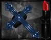 *A* PVC Cross Blue Ring