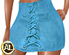 BLUE SUEDE SKIRT SEXY