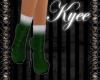 Santa Fur Boots Green
