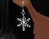 (K) snowflake earings W