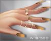 Summer Nails rings Gold