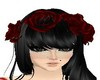 Hair red roses