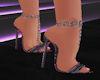 black pink shoes
