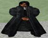 Unisex Black Mink Coat