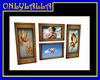 Blue Cupid Frames set